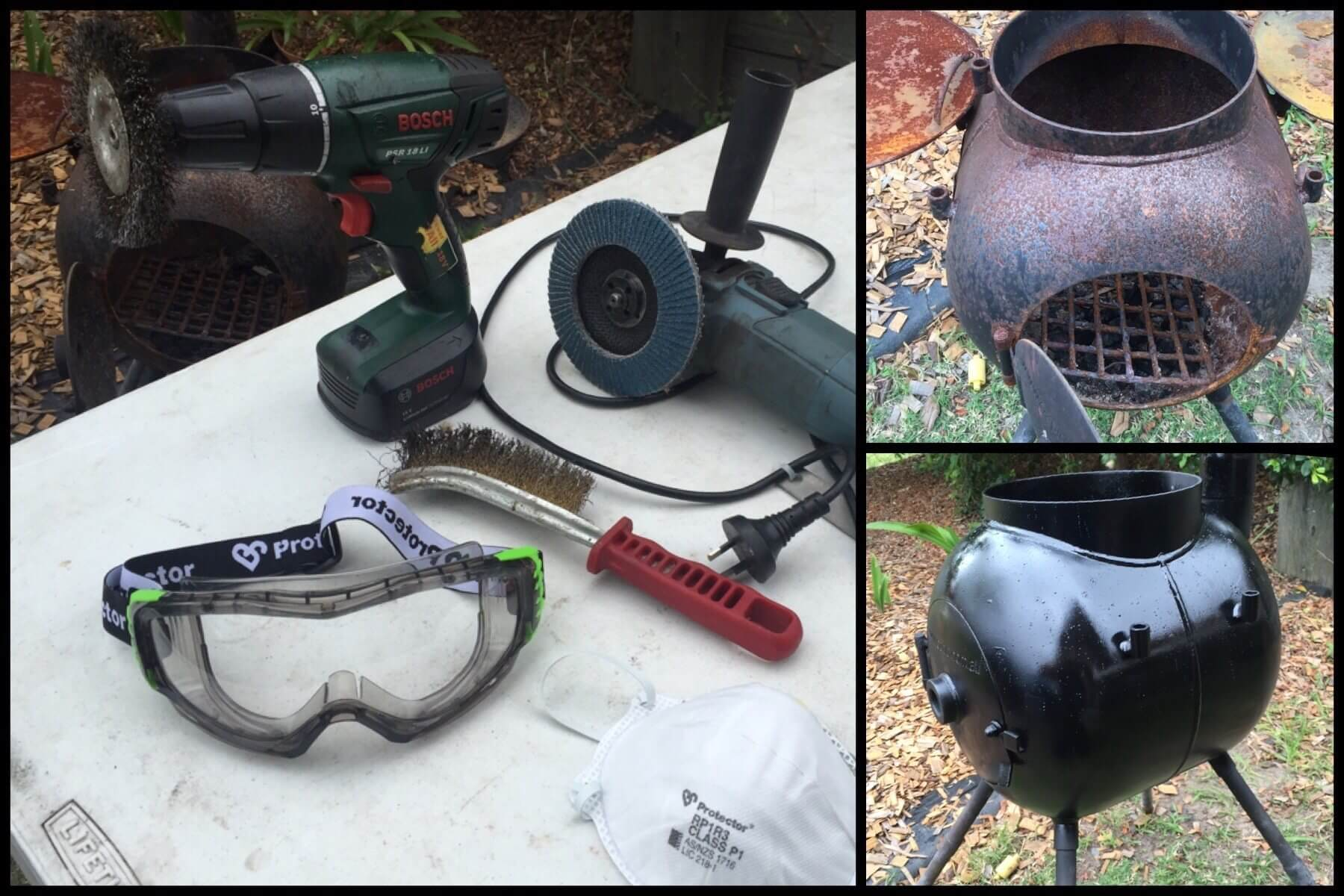 Cleaning and repainting a rusty Ozpig using hand tools | The Camp Oven Cook