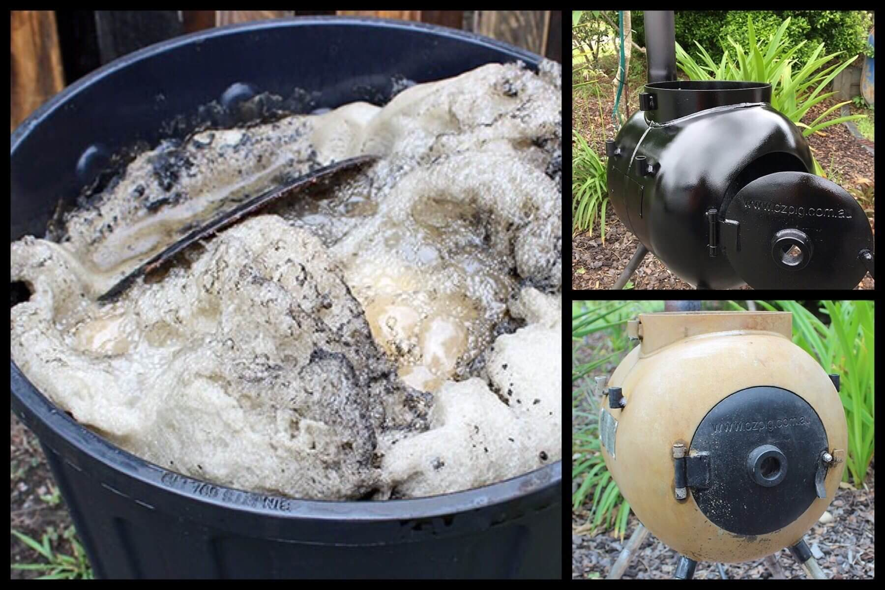 Cleaning and repainting a Rusty Ozpig using Molasses