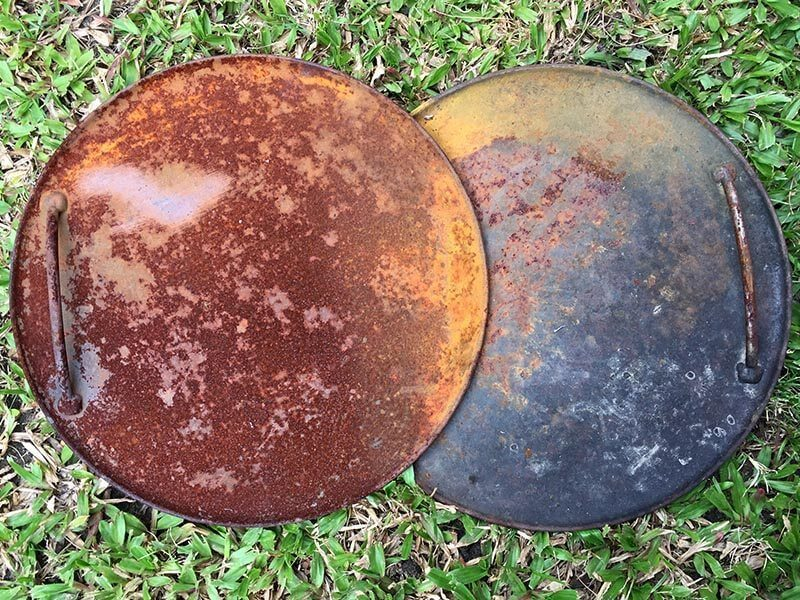 How to clean rusty Ozpig cooking plates | The Camp Oven Cook