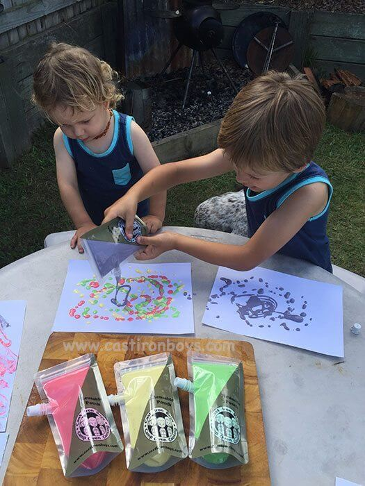 Fingerpaint for Kids - No Cooking Needed!