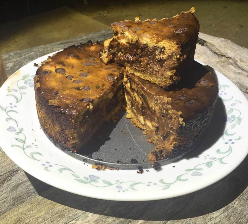 Caramel Choc Chip Cheesecake