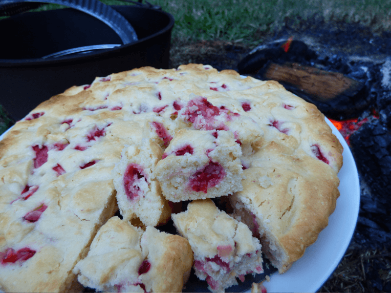 Family-Size Fresh Strawberry and White Chocolate Chunk Cookie