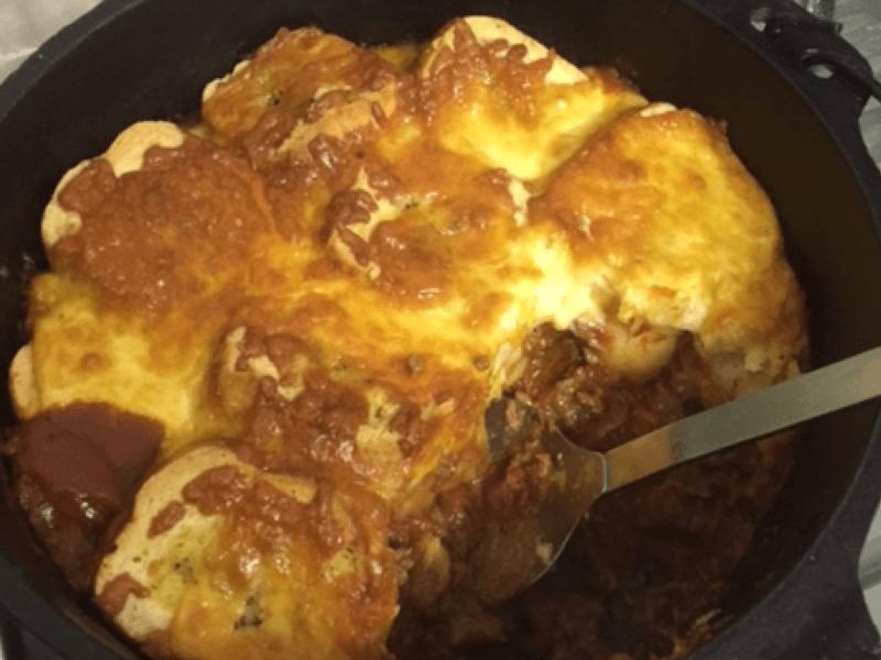 Bolognese Garlic Bread Bake