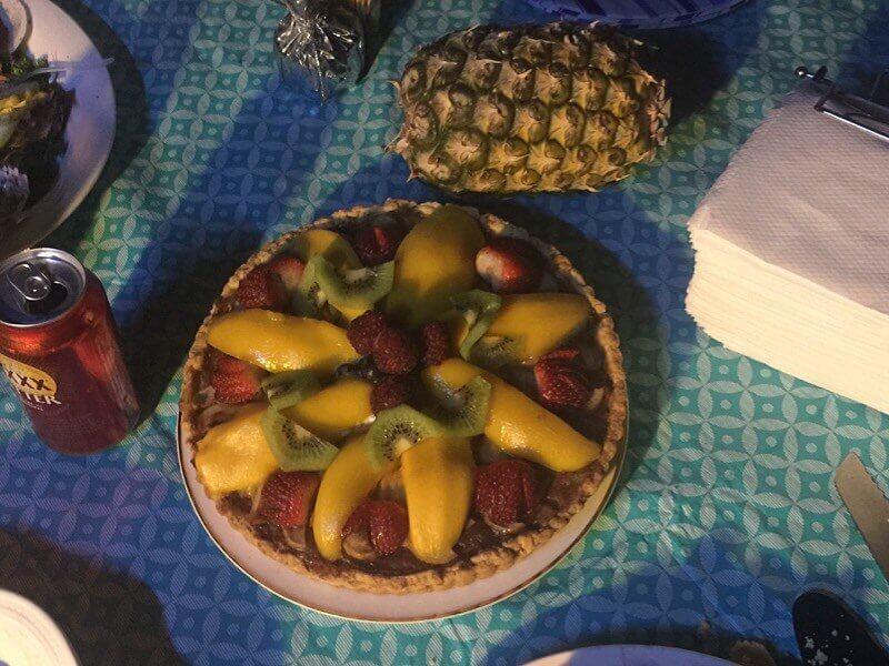 Apple and Mango tart