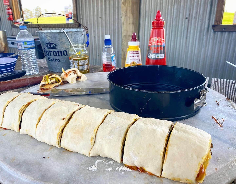 Cheese Burger Pull Apart Scrolls