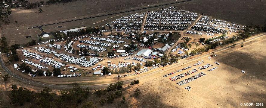 aerial shot of the 2018 Australian camp oven festival.